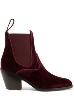 Heel measures approximately 60mm/ 2.5 inches Merlot velvet Pull on Designer color: Rubis Red Made in Italy