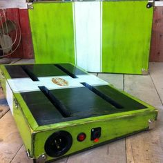 """This listing is for any size board up to 16x32 with a lid, two locking 1/4"""" jacks, and power inlet with two female plugins under the mounting surface. The board/lid comes with recessed latches, corner protectors, lift off hinges, rubber feet and a suitcase style handle. Also, the peda..."""