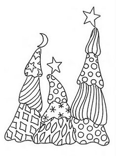 Made by Fay: Free Christmas Tree Doodle Christmas Doodles, Christmas Coloring Pages, Noel Christmas, Christmas Colors, Modern Christmas, Christmas Decor, Doodles Zentangles, Zentangle Patterns, Adult Coloring Pages
