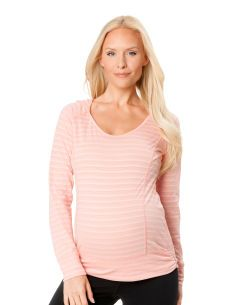 Motherhood Maternity Long Sleeve Jersey Knit Hooded Maternity Pull Over