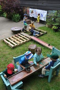 Stomping in the Mud -- love this outdoor play & learning area!