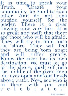 Love this quote! Mirrors my 'river' analogy in Pinch Me! Let go of the muddy grassy river bank and jump in the river!