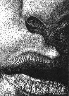 Stipple project. Sample Stipple Portraits & other projects from this high school art program