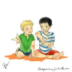 Jason and Percy as kids. SO. ADORABLE.