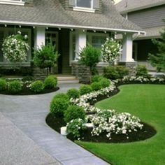 46 Stylish Front Yard Landscaping Ideas | homenimalist.com