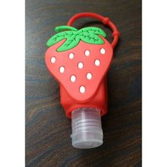 A refillable Hand Sanitizer with a Strawberry-design cover to ace the cute look