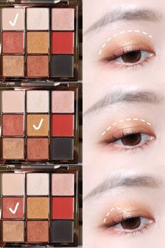 Online shopping from a great selection at CATKIN Cosmetic Store. Cute Eye Makeup, Subtle Makeup, Eye Makeup Steps, Makeup Korean Style, Korean Makeup Tips, Applying Eye Makeup, Contour Makeup, Ulzzang Makeup Tutorial, Eye Makeup Pictures