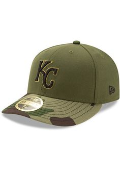 271cf7efee21b New Era Kansas City Royals Mens Green 2017 Memorial Day AC LC 59FIFTY Fitted  Hat -
