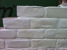 Brick - Paint, lime wash, mortar Brick And Mortar, Lime, Paint, Picture Walls, Limes, Paintings, Drawing, Key Lime, Color