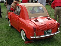 The Vespa 400 micro car. Produced from 1957 – 1961 in Fourchambault, France, and designed by Piaggio from Italy.