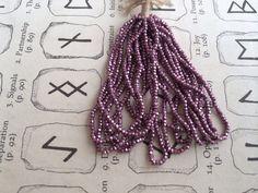 Antique French Steel cut bead hank Lavender purple Original full hank, $50.00