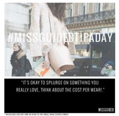 Tips & Tricks  #Missguided #TipADay #Fashion #Style