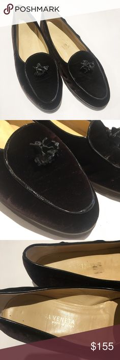 Bottega Veneta vintage velvet loafers Gorgeous vintage Bottega Veneta shoes in great condition. Velvet is super soft and the bottoms look great. Small stain on the inside, pictured. Bottega Veneta Shoes Flats & Loafers
