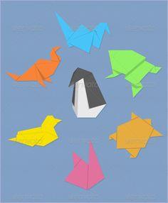 Origami Animals Graphic