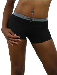 ToBeInStyle Sweet Message I LOVE YOU Boy Shorts. Soft and Durable Mix of Cotton