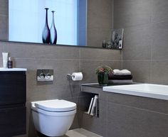 bathroom tile grey - Google Search