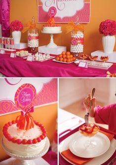 Hot Pink & Orange Pancake and Pajama Party // Hostess with the … pancakes-pajamas-pink-orange-birthday-party Orange Birthday Parties, Pajama Birthday Parties, Pink First Birthday, Pumpkin Birthday Parties, Orange Party, Birthday Party Decorations, Birthday Ideas, Birthday Stuff, Theme Parties