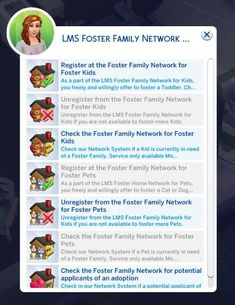 LittleMsSam's Sims 4 Mods — Foster Family Become a part of the LMS Foster. LittleMsSam's Sims 4 Mods — Foster Family Become a part of the LMS Foster. Los Sims 4 Mods, Sims 4 Game Mods, Sims 4 Teen, Sims 4 Toddler, Sims 4 Pets Mod, Sims 4 Jobs, Sims Traits, Sims 4 Family, Family Family