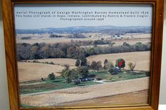 Aerial photo of Burnes Homestead by Teach Me Genealogy :), via Flickr