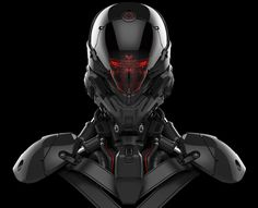 ArtStation - Robot head model, Aaron Deleon