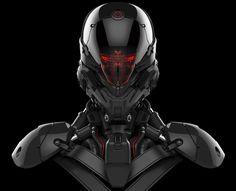 Robot head model by Aaron Deleon on ArtStation.