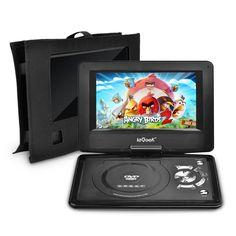 iegeek 125 portable dvd player kit portable dvd player and same size car headrest portable dvd playersfor kids