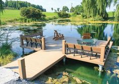My Boats Plans - Photo gallery of pond docks by The Dock Doctors Master Boat Builder with 31 Years of Experience Finally Releases Archive Of 518 Illustrated, Step-By-Step Boat Plans Lakeside Living, Outdoor Living, Lake Dock, Boat Dock, Lake Landscaping, Landscaping Ideas, Farm Pond, Pergola, Haus Am See