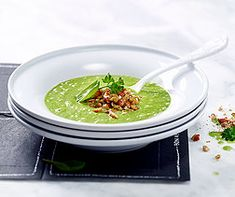 Kräuter-Spinatsuppe Salsa, Ethnic Recipes, Mad, Drizzle Cake, Almond Milk, Parsley, Apple, Food, Food Food