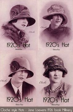 Cloche Hat Fashion – Matching a hat to your face. Better known as Line harmony, in the old days of millinery shops, women didn't walk out without a hat that exactly matched their own unique face shape. hats fashion Cloche Hat - How to Wear the Hats Style 1920s Hats, 1920s Flapper, 1920s Men, Caroline Reboux, Vintage Outfits, Vintage Fashion, Victorian Fashion, 1920s Fashion Women, Image Mode