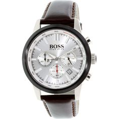 Hugo Boss Men's 1513184 Brown Leather Quartz Watch