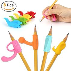 Children Pencil Holder Writing Aid Grip Trainer Set of 5PCS Mlife Pencil Grips Ergonomic Training Pen Grip Posture Correction Tool for Kids