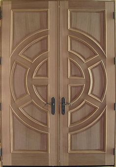 New wooden glass door design woods Ideas Wooden Glass Door, Wooden Double Doors, Wooden Front Door Design, Double Door Design, Door Gate Design, Room Door Design, Double Front Doors, Door Design Interior, Wood Front Doors