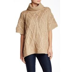 LAST DAY‼️Love Token Cable Knit Poncho Love Token Cable Knit Poncho. Bundle & save 5%! 17.4dcssbcd Sweaters