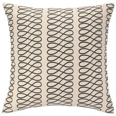 COCOCOZY Loop Black Embroidered Pillow @Layla Grayce