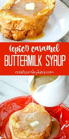 Epic Caramel Buttermilk Syrup Recipe- you must try this stuff! This syrup is amazing on French toast, pancakes, waffles, you name it! You'll never go back to store bought syrup. Best Breakfast, Breakfast Recipes, Breakfast Ideas, Caramel Syrup Recipe, Buttermilk Syrup, Nutella, Low Cal, Pancakes And Waffles