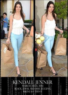Kendall Jenner looking divine in Black Orchid Denim.