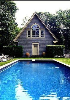 Grey Garden Pool House