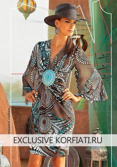 Это трикотажное платье настоящая находка для жарких летних дней! Как сшить трикотажное платье? Очень просто, при этом выглядит оно просто роскошно.