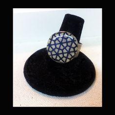 geometric pattern ring by handmadebychloed on Etsy