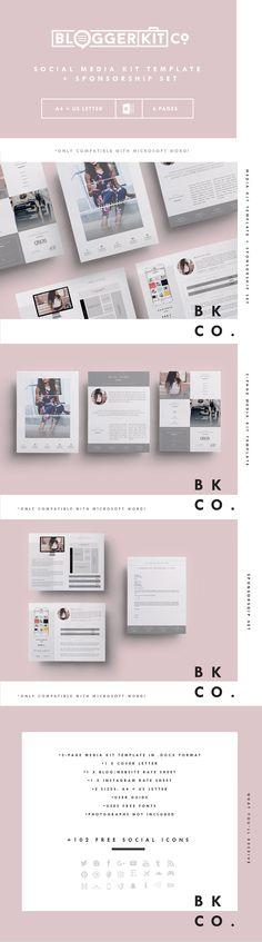 Social Media Kit Template Set | 6Pgs Templates PSD