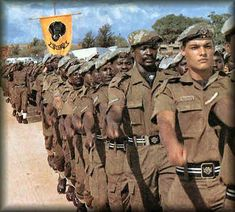 "Hulle was so gevrees deur hulle vyande dat dié hulle herdoop het as ""Os Terriveis - the terrible ones. Military Life, Military History, Military Flags, South African Air Force, Army Day, Military Insignia, Defence Force, Troops, Soldiers"