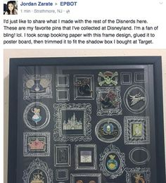 sketch frames on black paper to display small things