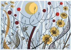 Angie Lewin's 'Birches Ballindalloch' screen print, one of a number of Angie's print to be exhibited in Winchester from 11th March 2017 as part of 'A Printmaker's Journey', the exhibition she has curated for Hampshire Cultural Trust. Find out more: https://www.aprintmakersjourney.info