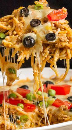 Mexican Spaghetti Bake