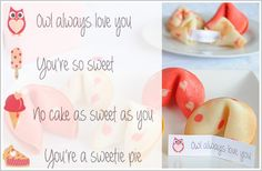 Valentine's Fortune Cookies : free printable & recipe