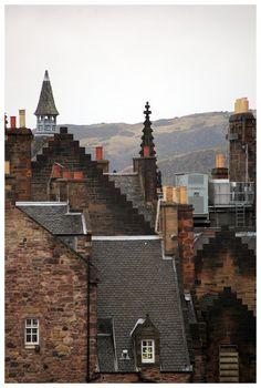 Roof tops ~ Edinburgh Scotland