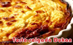 Torta salgada - Dieta Dukan #dietadukan #receitasdukan #tortasalgada