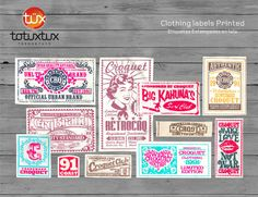 clothing label   Handmade Clothing labels