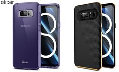 Galaxy Note 8 cases all clearly show the fingerprint sensor beside the camera