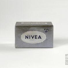 """ok. 1968, Pollena-Lechia, mydło """"Nivea"""", autor projektu: ? informacje z opakowania: mydło toaletowe 100g ZŁ 5.- PN-68/C-77043 2/805/0"""